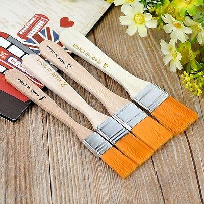 4Pcs Nylon Acrylic Oil Paint Brushes Kit for Art Artist Painting Pen Supplies](Nylon Paint Brush)