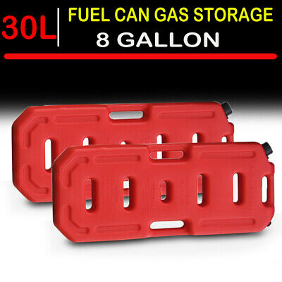 2x 8 Gallon Fuel Pack Gas Jerry Can Spare Fuel Container Off Road Fits Jeep