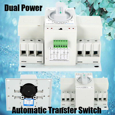 Automatic Transfer Switch Manual Circuit Breaker 63a 3p 50hz60hz Dual Power