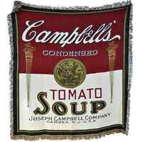 Campbells Blanket Throw Rare