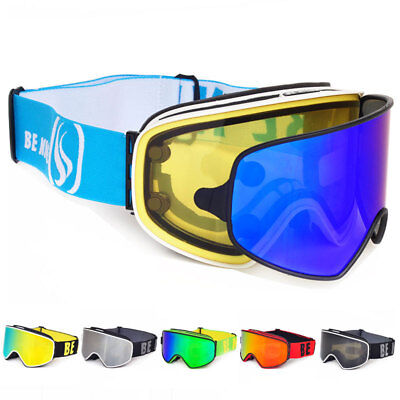 2 in 1 with Magnetic Dual-use polarized Lens Anti-fog UV400 lens Ski Goggles  ()