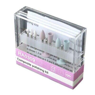 Dental Burs Composite Polishing Kit Ra0309 Low Speed Pieces 3 Ceramic 6 Silicone