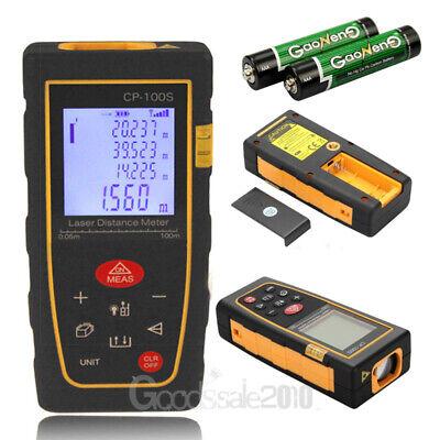 Laser Distance Meter Range Finder Measure Tool 330ft100m With Li-ion Battery