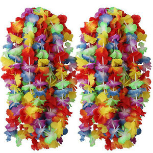 200-Collane-Hawaiane-Collana-Hawaiana-Fiori-Finti-Hawaii-Feste-festa-party-Tema