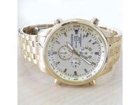 gent's gold coloured citizens chronograph watch (will delete if sold)