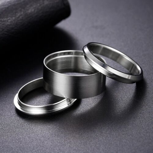 Stainless Steel Three Part Ring Blank for Bent Wood and other inlay materials