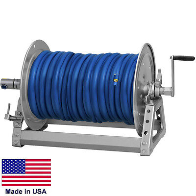 Pressure Washer Sprayer Manual Hose Reel - 400 Ft 38 Or 300 Ft 12 Id Hose