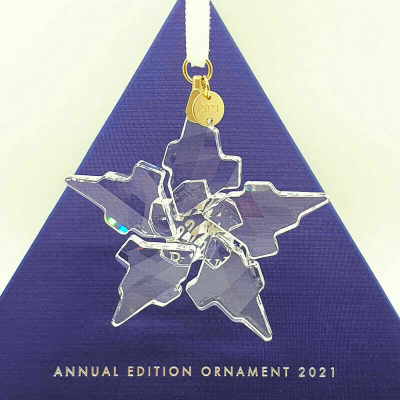 2021 ANNUAL EDITION LARGE Swarovski Crystal CHRISTMAS ORNAMENT 5557796 AUTHENTIC