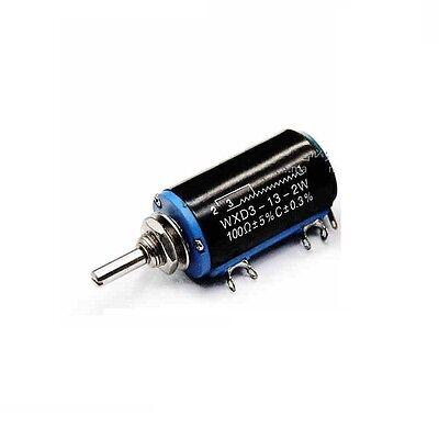 1pcs Wxd3-13-2w 100 Ohm Rotary Multiturn Wirewound Potentiometer