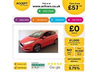 Ford Fiesta 1.6 ( 182ps ) EcoBoost FROM £57 PER WEEK.
