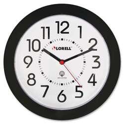 Lorell 9 Radio Controlled Profile Wall Clock, Black - LLR60990