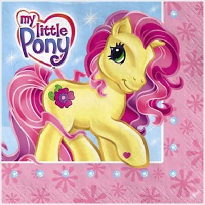 My Little Pony Dessert Beverage Napkins 16 Per Package Birthday Party Supplies
