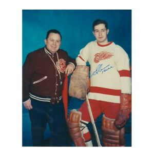 GLENN HALL Detroit Red Wings Autographed 8 X 10 Photo W/COA