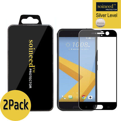[2-Put away] SOINEED FULL COVER Tempered Glass Screen Protector For HTC 10 / M10 BK