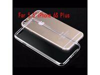 """iPhone 6 Plus 5.5"""" Ultra Thin Soft TPU Clear Transparent Skin Case Cover"""