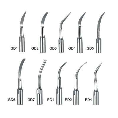 10 Type Scaling Tip Dental Ultrasonic Perio Scaler Dtesatelec Gdpd Handpiece