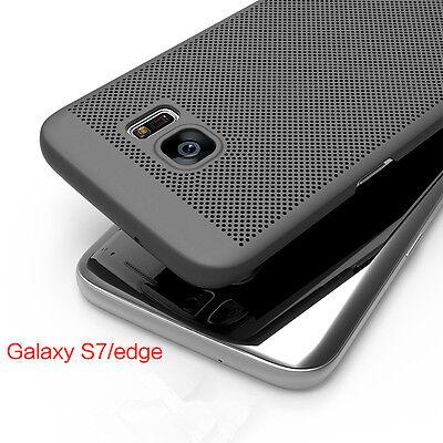 360° Protective Slim Matte Hollow Mesh Shell Hard PC Back Cover Case For Samsung Slim Matte