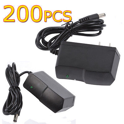200 x AC 100-240V DC 12V 1A 5.5 x 2.1 Wall Charger Power Supply Adapter CCTV LED