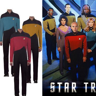 Star Trek TNG Jumpsuit Uniform The Next Generation Red Yellow Blue Costumes New (Star Trek Tng Halloween Costumes)