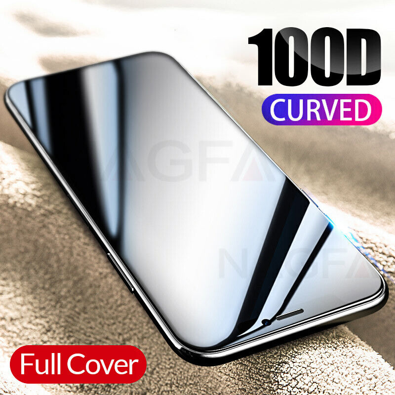 100D Full Curved Tempered Glass Screen Protector For iPhone 11 Pro Max XR X XS 8