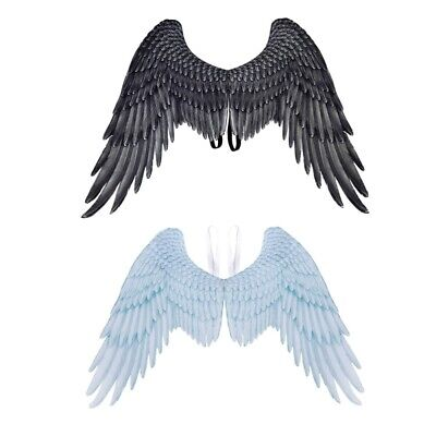 schwarz Engelsflügel Halloween Thema Party Cosplay Kostüm Zubehör - Schwarz Engel Flügel Kostüm Halloween