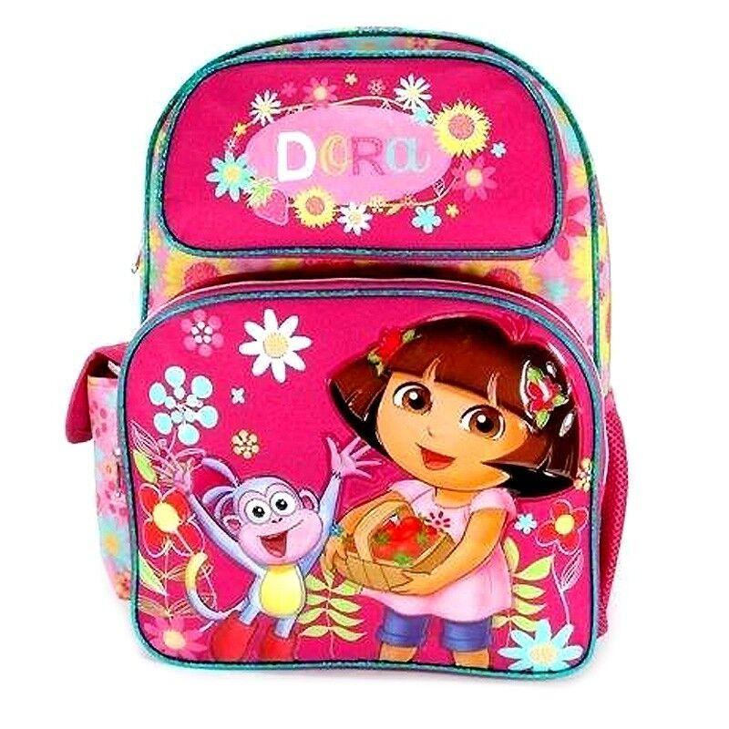 """Dora the Explorer 16"""" Large School Backpack : Sunflower"""