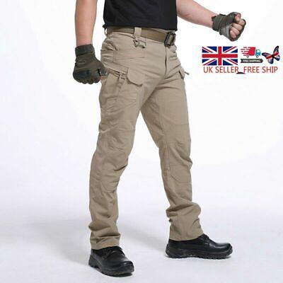 UK Men Waterproof Windproof Outdoor Hiking Pants Combat Tactical Sports Trousers