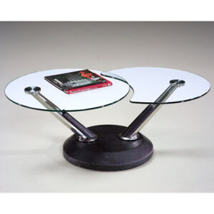 Magnussen Modesto Swivel Glass Coffee Table