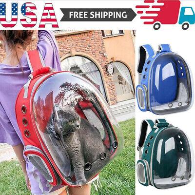 Pet Portable Carrier Backpack Space Capsule Travel Dog Cat Bag Transparent -