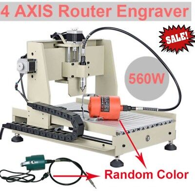 4 Axis 3040 Cnc Router 560w Parallel Carving Woodworking Engraving Machine Dhl