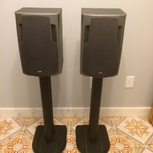 JVC Speakers and stands