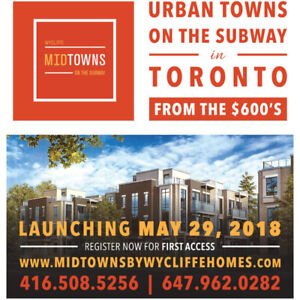 New Urban Townhomes at Lawrence West Subway Station!