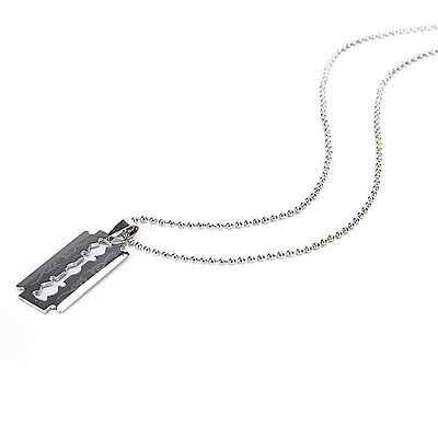 Men Favorite Stainless Steel Razor Blade Pendant Fashion