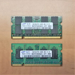 Mémoire RAM DDR2 pour ordinateur portable (2GB et 1GB)