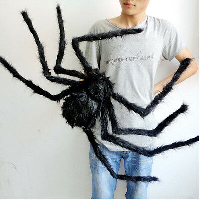 Halloween Prop Scary Scream Giant Spider Big Hairy Araneid Spider Web Decoration](Giant Spider Web Decoration Halloween)