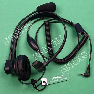 Over-head Headset Earpiece Boom Mic Garmin Gps/radio Rino...