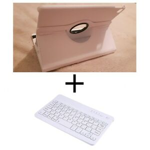 (SET) White Case + Bluetooth Keyboard for iPad Air 2 / Pro 9.7