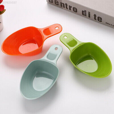 E444 Pet Food Shovel Plastic Puppy Cat Scoop Small Feeder Tool Random Color