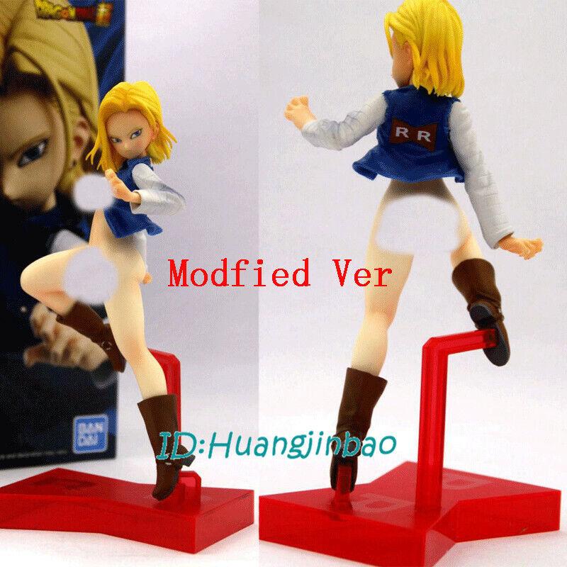 Modisfied Handmade Custom PVC Model Dragon Ball Z Android 18 Figure Sweater Ver