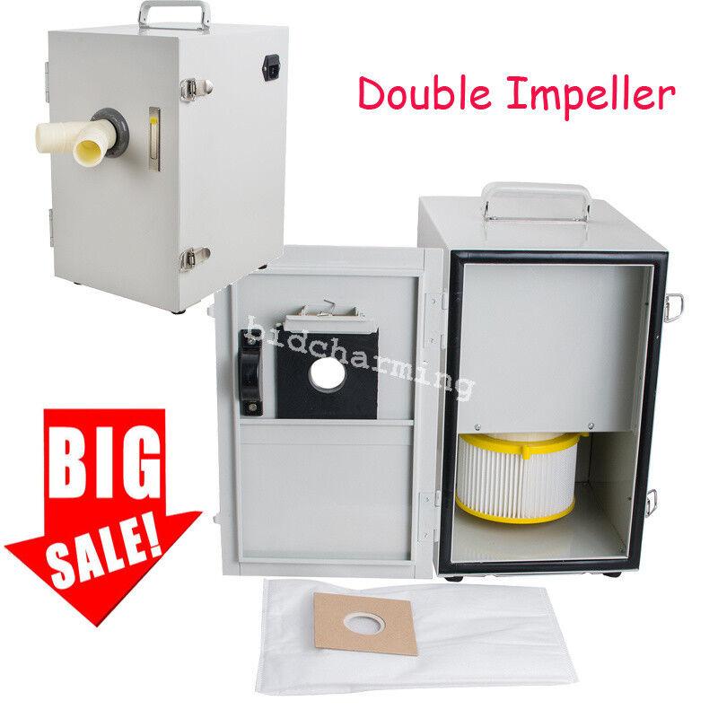 550W Dental Digital Double Impeller Dust Collector dental lab Vacuum Cleaner FDA