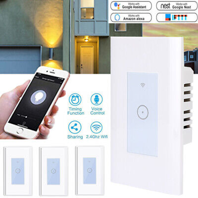 Lot10 Smart Touch Light Wi-Fi Wall Switch Remote & Timer For Alexa Google IFTTT