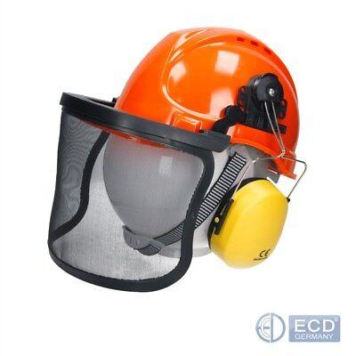 Forsthelm Forst Schutzhelm Helmset Sicherheitshelm mit Gesichts und Gehörschutz