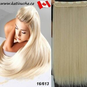 "Clip in hair extension,Straight hair,60 cm, 24"", Color #16/613"