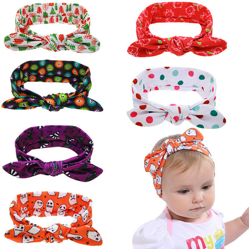 6PCS//LOT Cute Baby Girl Leopard Headband Headwear Bow Band Kid Hair Accessories
