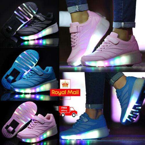 Girls /& Boys Colorful Rollers Led Lights Skater Shoes Skate Wheels Trainer
