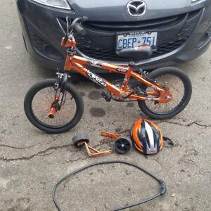 Childs Bike, Helmet and lock