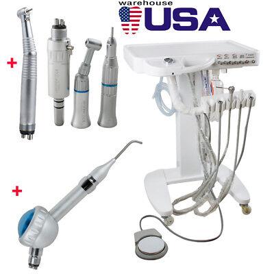 Dental Delivery Unit Cart System Syringe Led High Low Handpiece Air Polisher
