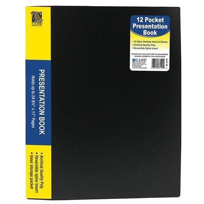 C Line Bound 12 Pocket Sheet Protector Presentation Book