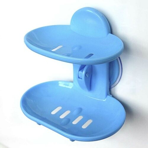 Barthroom Soap Dish Double Layer Plastic Simple Soap Box for Home Kitchen