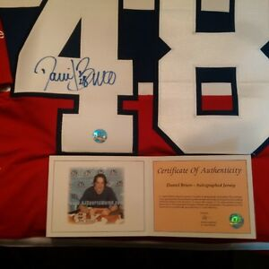 Daniel Briere #48 Montreal Canadiens autographed jersey